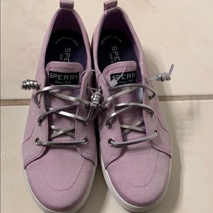NWT-Girls Sperry Lavender Top-Sider Sneakers